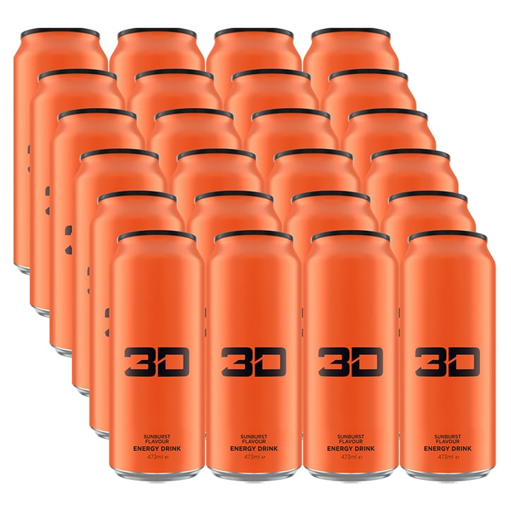 3D Energy Orange Sunburst Box 24 x 473ml