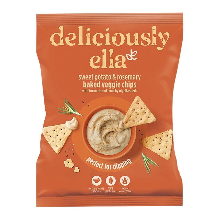 Deliciously Ella Sweet Potato and Rosemary Baked Veggie Crackers 100g