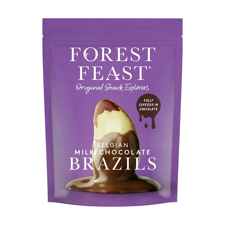 Forest Feast Belgian Milk Chocolate Brazils 120g