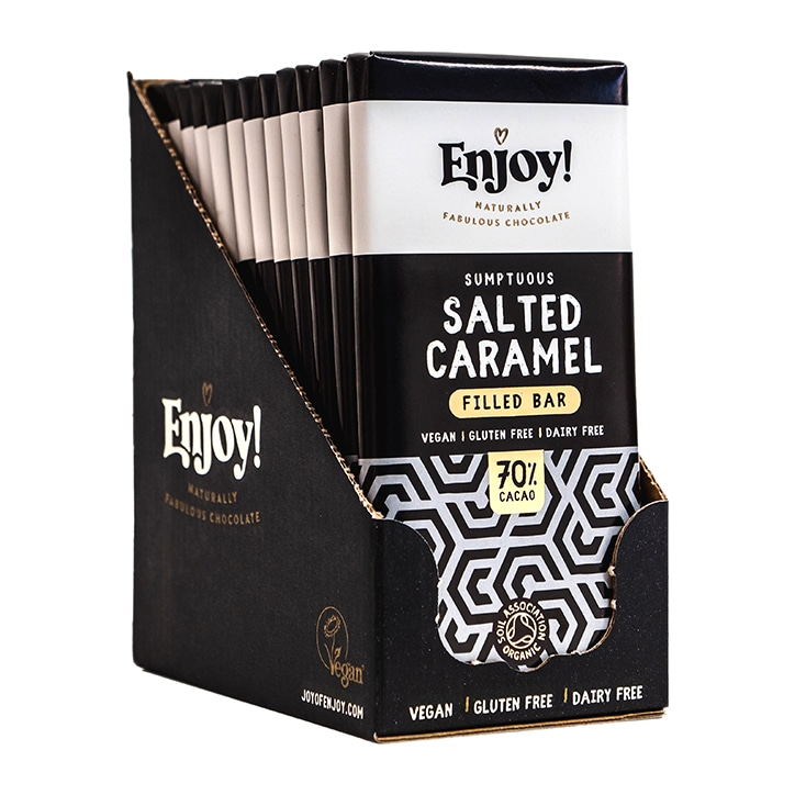 Enjoy! Salted Caramel Filled Vegan Chocolate 12 x 70g