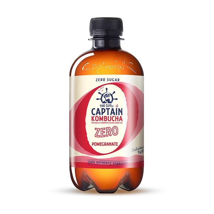 The GUTsy Captain Kombucha Passion Fruit Zero Pomegranate 400ml