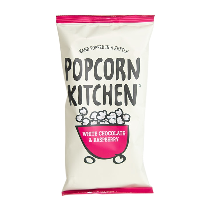 Popcorn Kitchen White Chocolate & Raspberry Popcorn Sharing Pack 100g