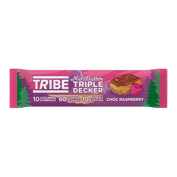 TRIBE Nut Butter Triple Decker Choc Raspberry Bar 40g