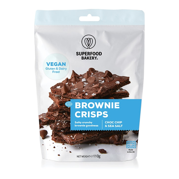 Superfood Bakery Brownie Crisps Choc Chip & Sea Salt 110g