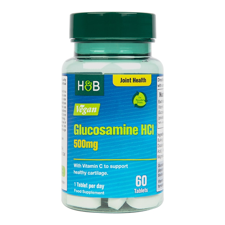 Holland & Barrett Vegan Glucosamine 500mg 60 Tablets