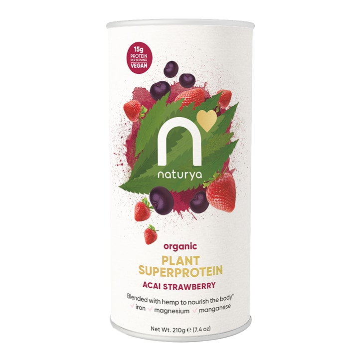 Naturya Organic Plant Superprotein Acai Strawberry 210g