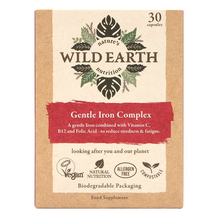 Wild Earth Gentle Iron Complex 30 Capsules