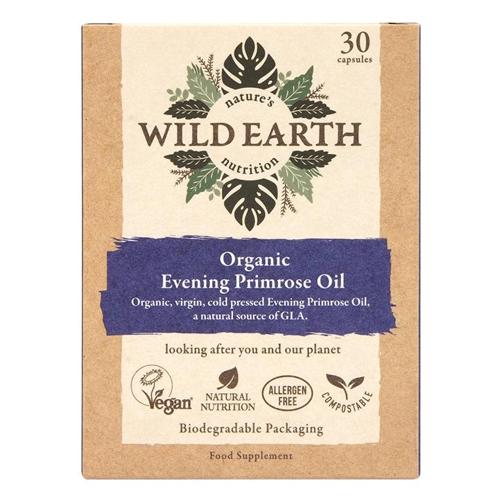 Wild Earth Organic Evening Primrose Oil 30 Capsules
