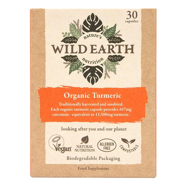 Wild Earth Organic Turmeric 30 Capsules