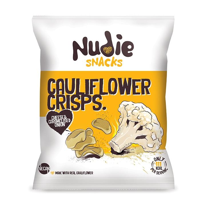 Nudie Snacks Cauliflower Crisps Vegan Cheese & Caramelised Onion 80g