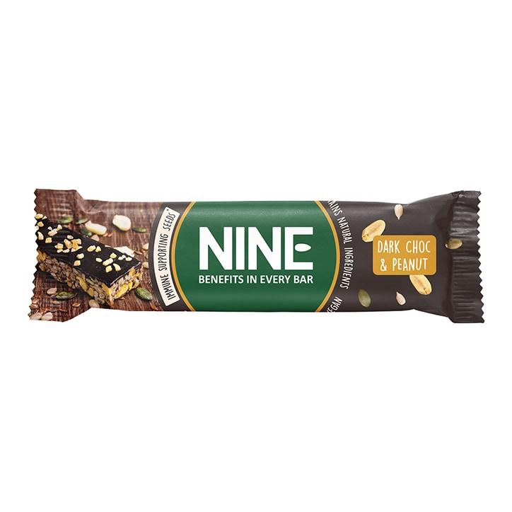 NINE Dark Chocolate & Peanut Bar 40g