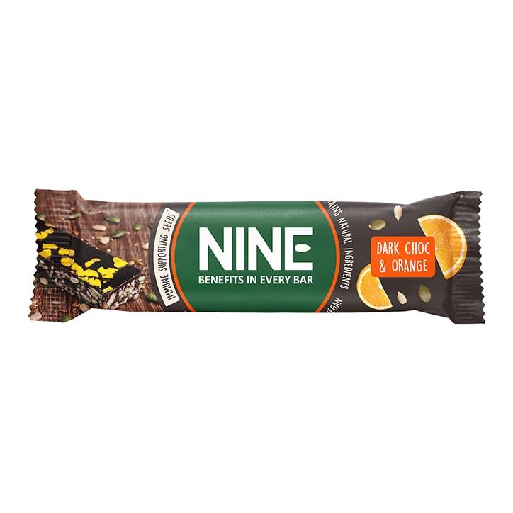 NINE Dark Chocolate & Orange Bar 40g