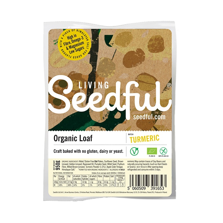Seedful Gluten Free Turmeric Loaf 950g
