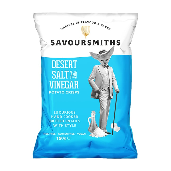 Savoursmiths Desert Salt & Vinegar Luxury English Potato Crisps 150g