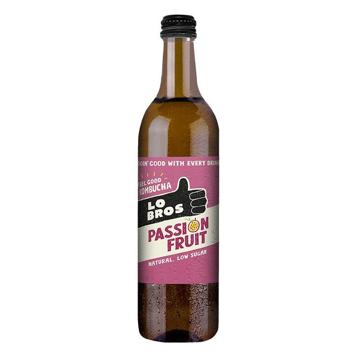 Lo Bros Organic Kombucha Passion Fruit 750ml