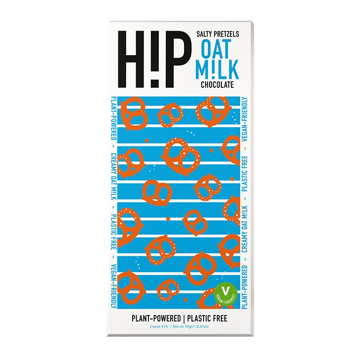 HiP Chocolate Salty Pretzels Oat Milk Chocolate 70g