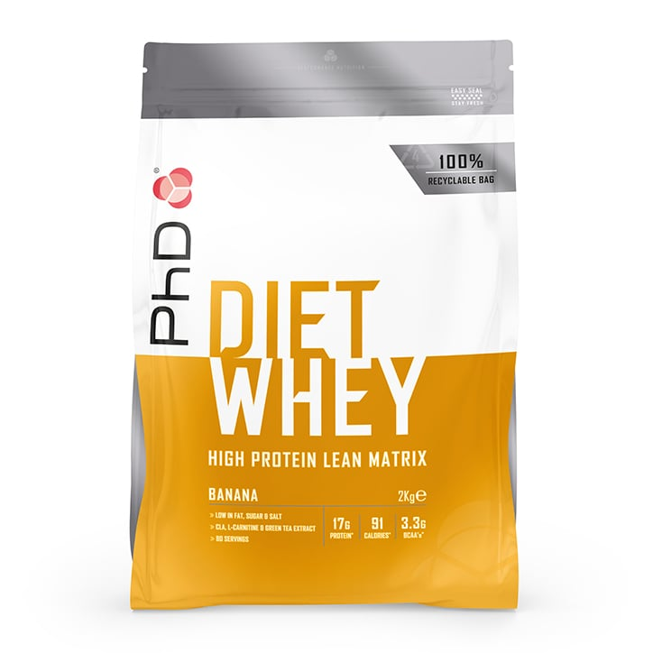 PhD Nutrition Diet Whey Protein Powder Banana 2000g