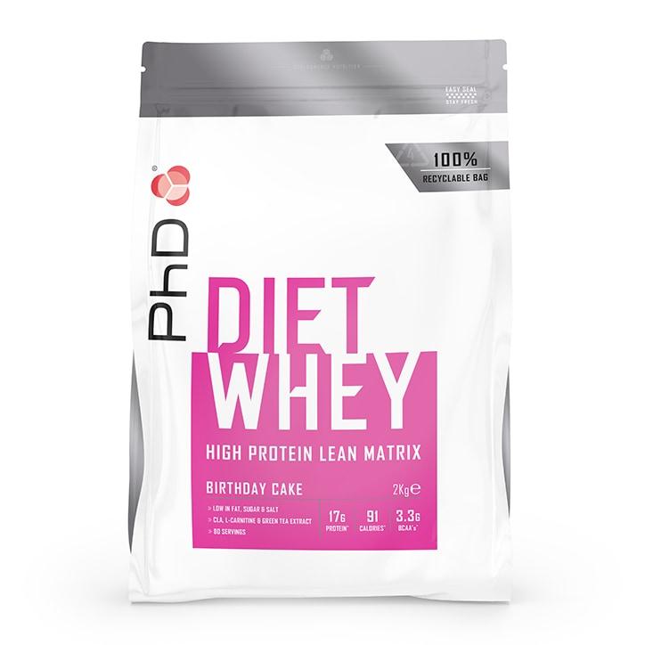 PhD Diet Whey Powder Birthday Cake 2000g
