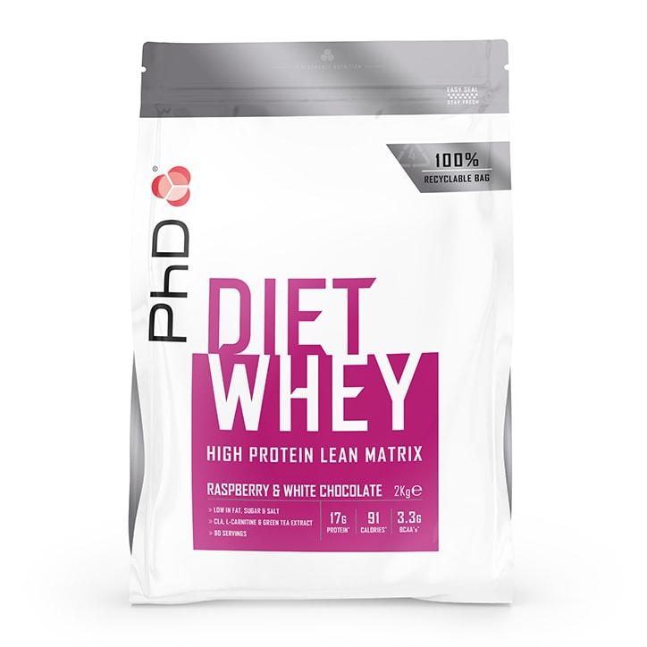 PhD Nutrition Diet Whey Protein Powder Raspberry & White Chocolate 2000g