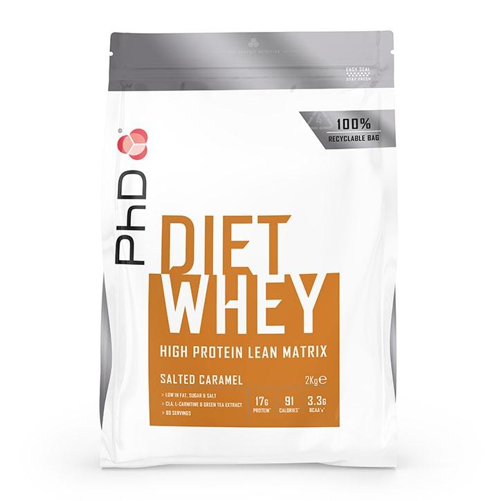 PhD Nutrition Diet Whey Protein Powder Salted Caramel 2000g
