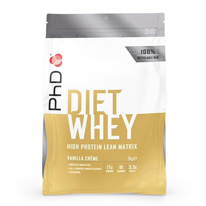 PhD Nutrition Diet Whey Protein Powder Vanilla Crème 2000g