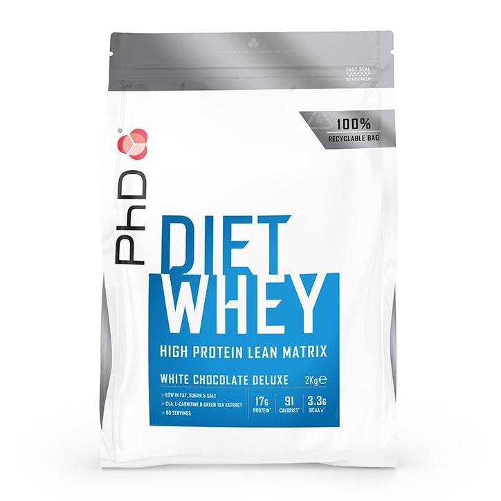 PhD Nutrition Diet Whey Protein Powder White Chocolate 2000g