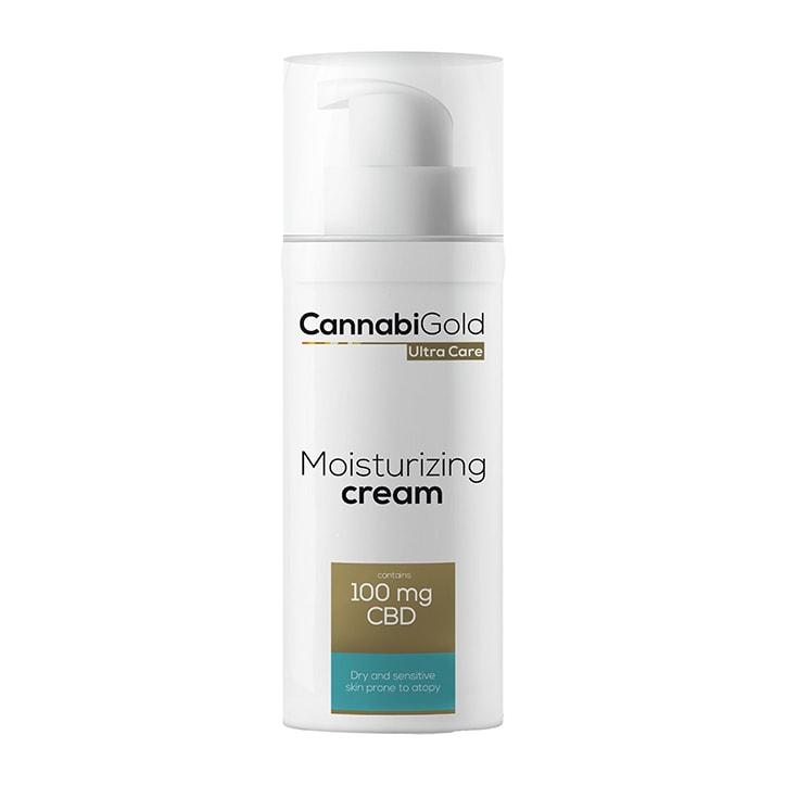 CannabiGold Ultra Care Moisturizing Cream Dry and Sensitive Skin 50ml