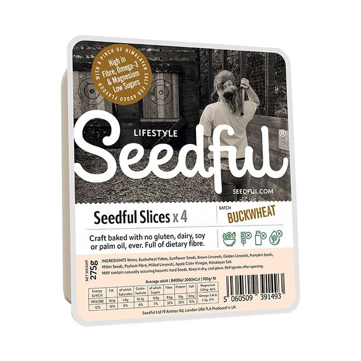 Seedful Organic Gluten Free Buckwheat Loaf Slices 275g