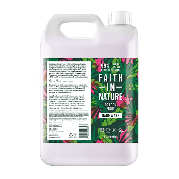 Faith in Nature Dragon Fruit Hand Wash 5 Litre
