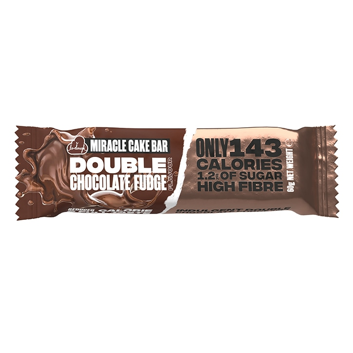 Lo-Dough Miracle Cake Bar Double Chocolate Fudge Flavour 60g