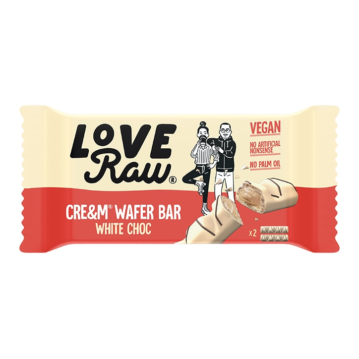 Love Raw Vegan White Chocolate Cre&m Wafer 44g