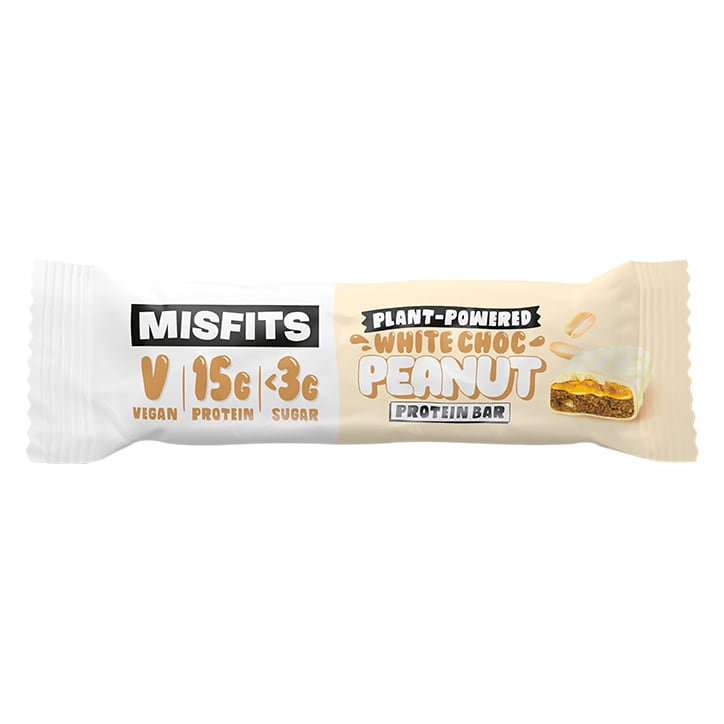 Misfits White Chocolate Salted Peanut Vegan Protein Bar 45g
