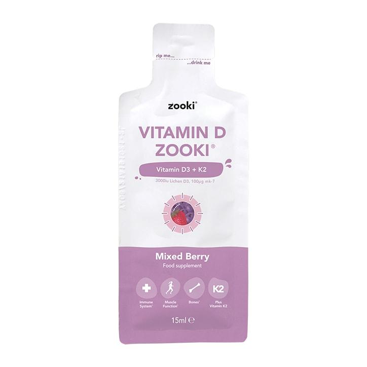YourZooki Liposomal Vitamin D3 3000IU & K2 100UG Mixed Berry Flavour 15ml Sachet