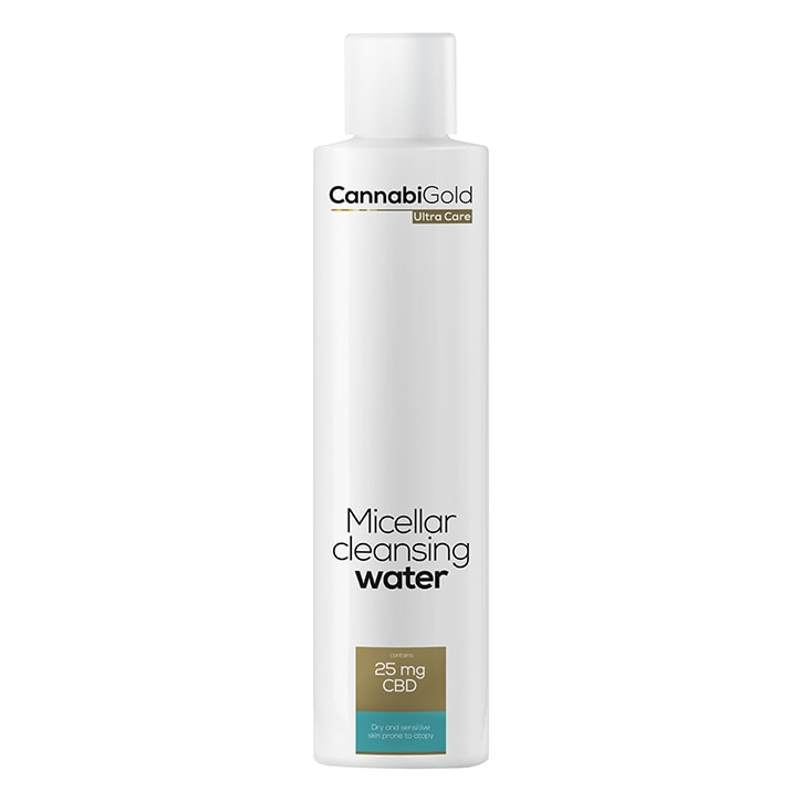 CannabiGold Ultra Care Micellar Cleansing Water for Dry and Sensitive Skin 200ml