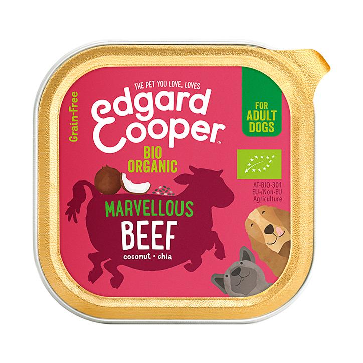 Edgard & Cooper Organic Beef Adult Dog Wet Cup 100g