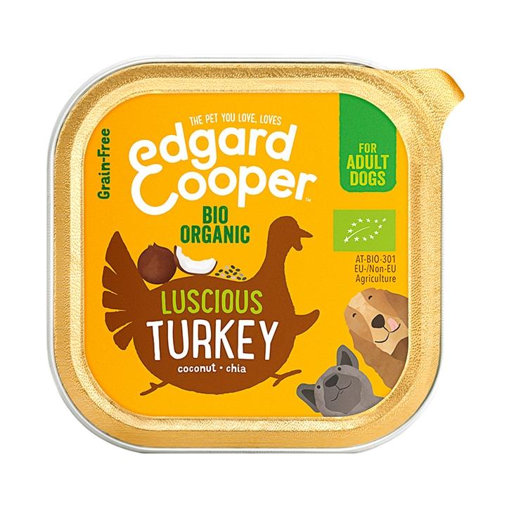 Edgard & Cooper Organic Turkey Dog Adult Wet Cup 100g