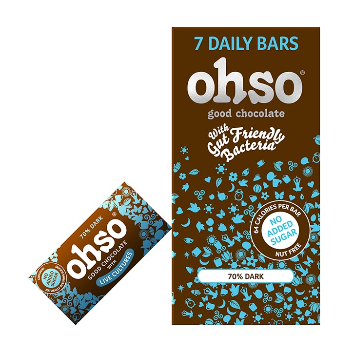 Ohso 70% Dark Chocolate Bar No Added Sugar 7 x 13.5g