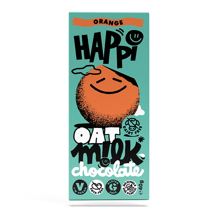 Happi Orange Oat M!lk Chocolate Bar 40g