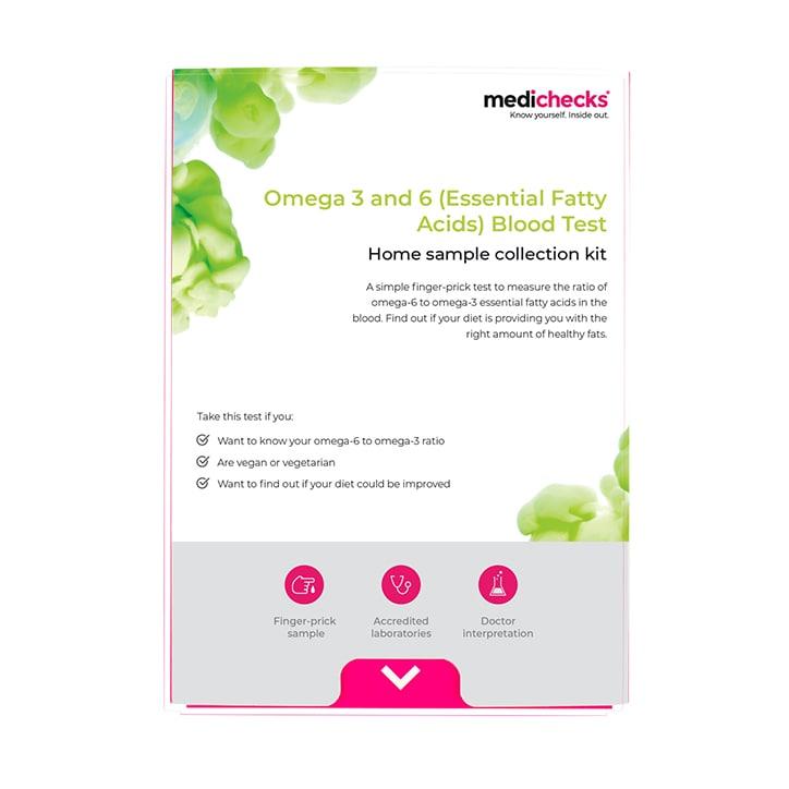 Medichecks Omega 3 and 6 (Essential Fatty Acids) Blood Test