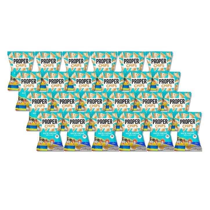 Properchips Salt & Vinegar Lentil Chips Full Box 24 x 20g