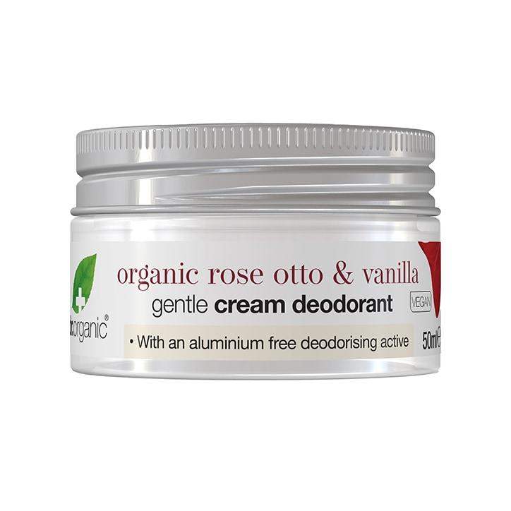 Dr Organic Cream Deodorant Rose and Vanilla 50ml