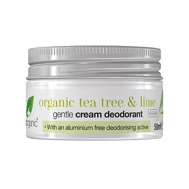 Dr Organic Tea Tree and Lime Cream Deodorant 50ml