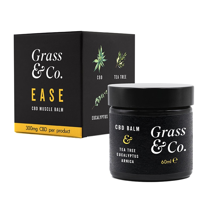 Grass & Co. EASE CBD Muscle Balm 300mg with Tea Tree, Eucalyptus & Arnica 60ml