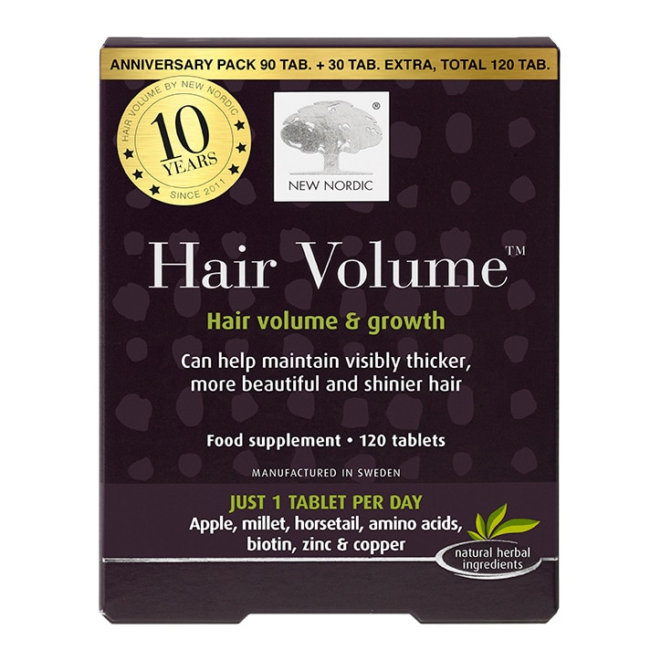 New Nordic Hair Volume Anniversary Pack 90+30 Tablets