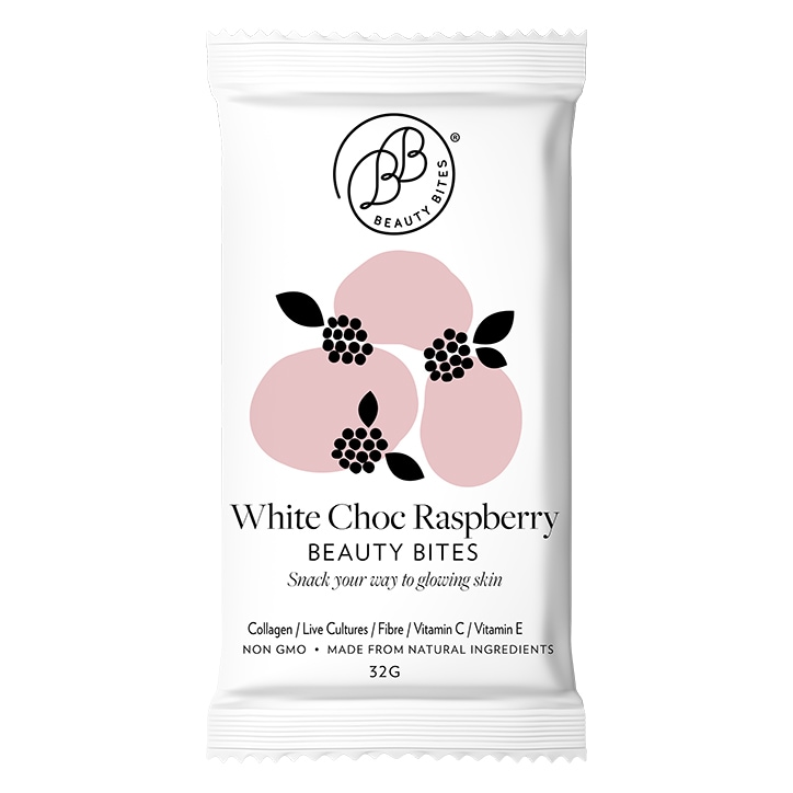Krumbled Foods Beauty Bites White Chocolate Raspberry Flavour 1 x 32g