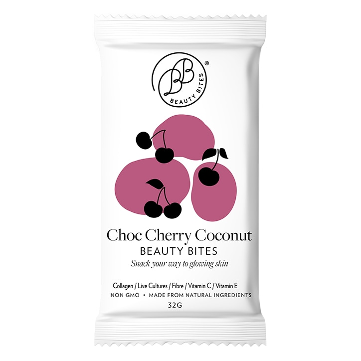 Krumbled Foods Beauty Bites Chocolate Cherry Coconut Flavour 1 x 32g