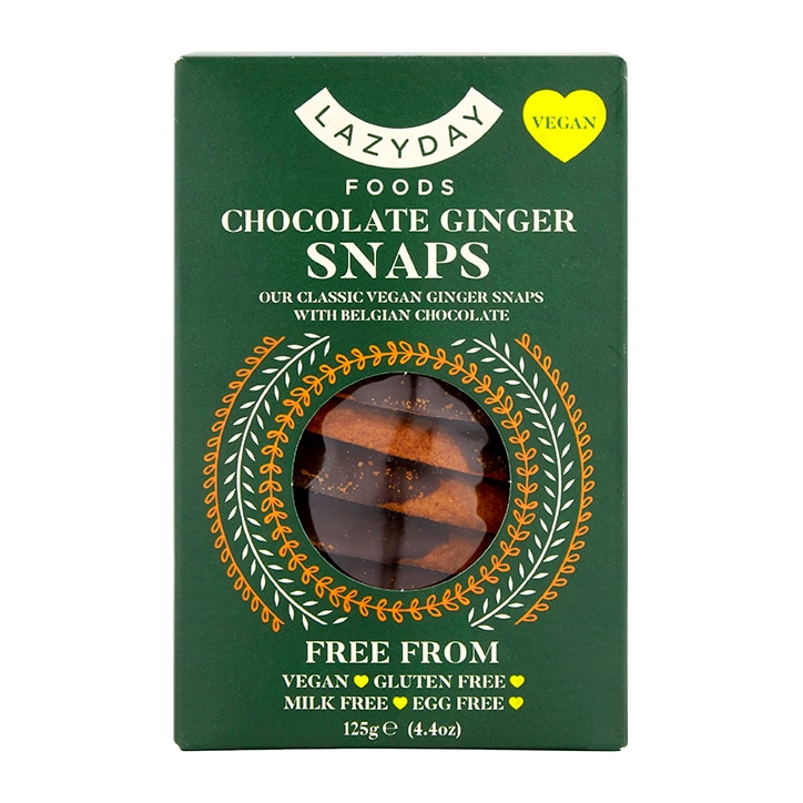 Lazy Day Foods Chocolate Ginger Snaps 125g