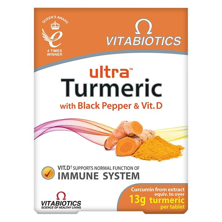 Vitabiotics Ultra Turmeric with Black Pepper & Vitamin D 60 Tablets