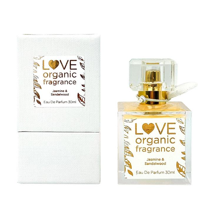 Love organic fragrance Jasmine & Sandalwood Eau De Parfume 30ml
