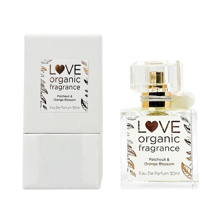 Love organic fragrance Patchouli & Orange Blossom Eau De Parfum 30ml